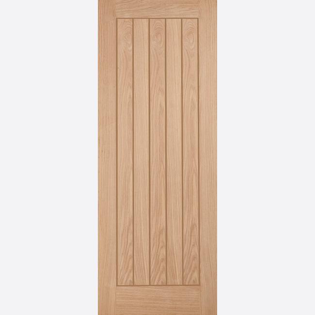 Solid Wood Internal Doors >> Details About Unfinished Oak Belize Solid Wood Cottage 5 Panel Grooved Internal Interior Door